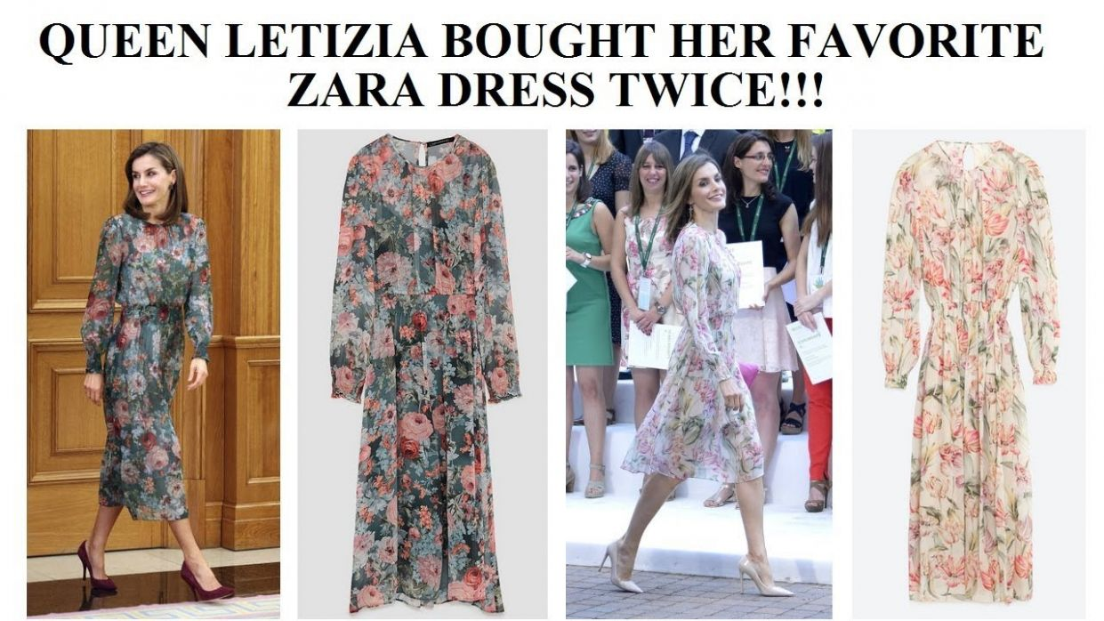 Queen Letizia Bought Her Favorite Zara Dress Twice: Spring and Autumn  Version