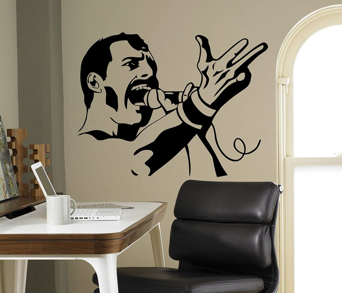 Queen Wall Decal Freddie Mercury Vinyl Sticker Rock Band Home Decor Ideas  Interior Living Room Removable Wall Art 9(fmy) - wall decor vinyl ideas