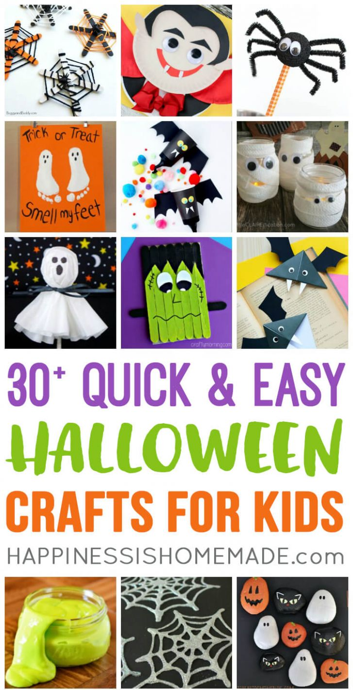 Quick & Easy Halloween Crafts for Kids - Happiness is Homemade