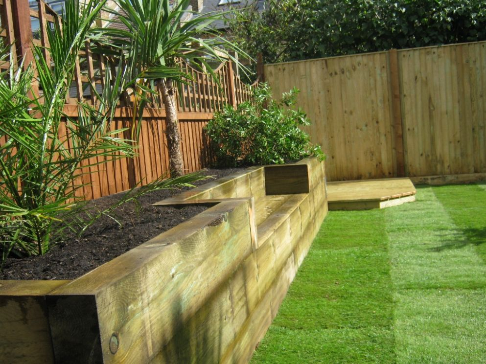 Railway Sleepers – Garden Gurus | Creative Landscape Construction - garden ideas with sleepers