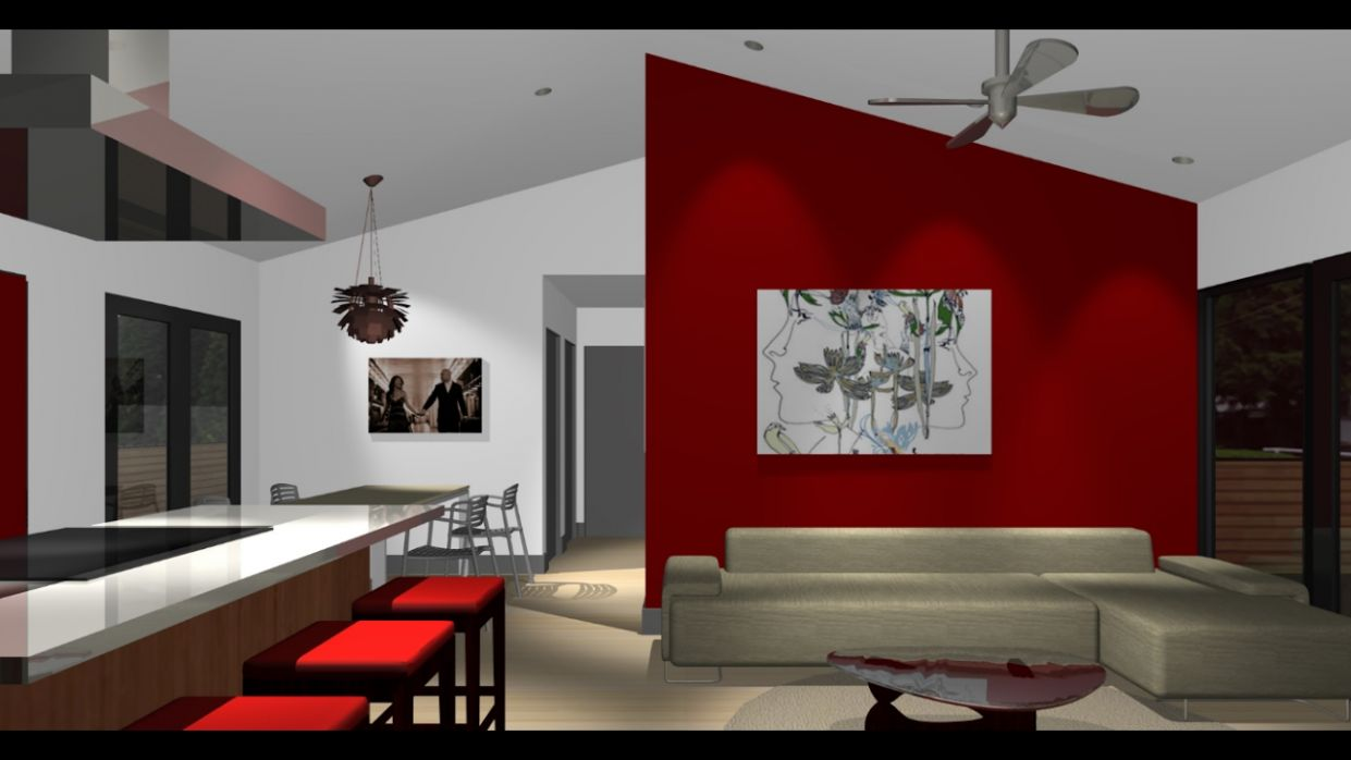 Red Accent Wall | Red Accent Wall Living Room Design - YouTube - living room ideas red wall