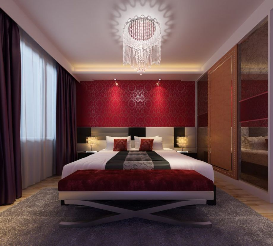 Red And Gold Bedroom Ideas | Woman bedroom, Bedroom red, Elegant ..