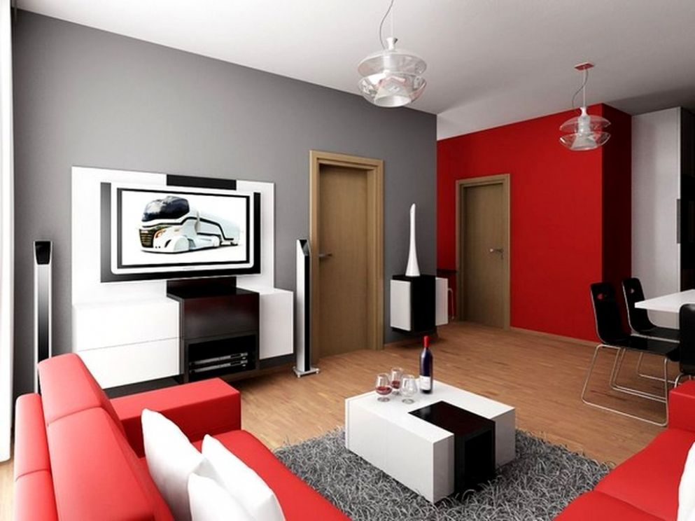 Red And Grey Living Room Ideas | Creative Living Room - living room ideas red black grey