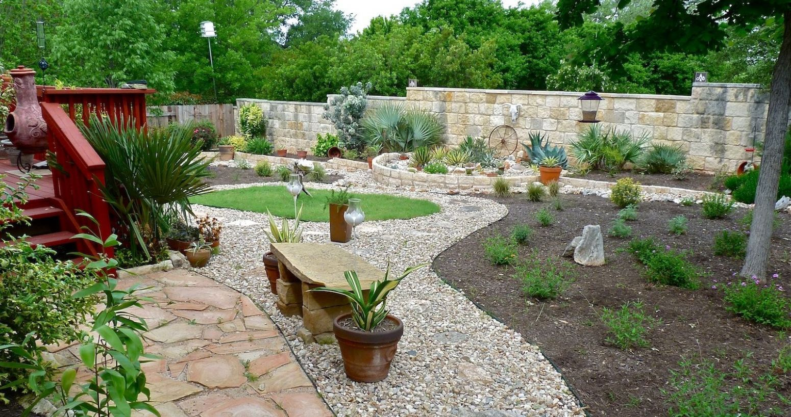 REFLECTIONS ON A XERISCAPE | Landscaping with rocks, Backyard ..