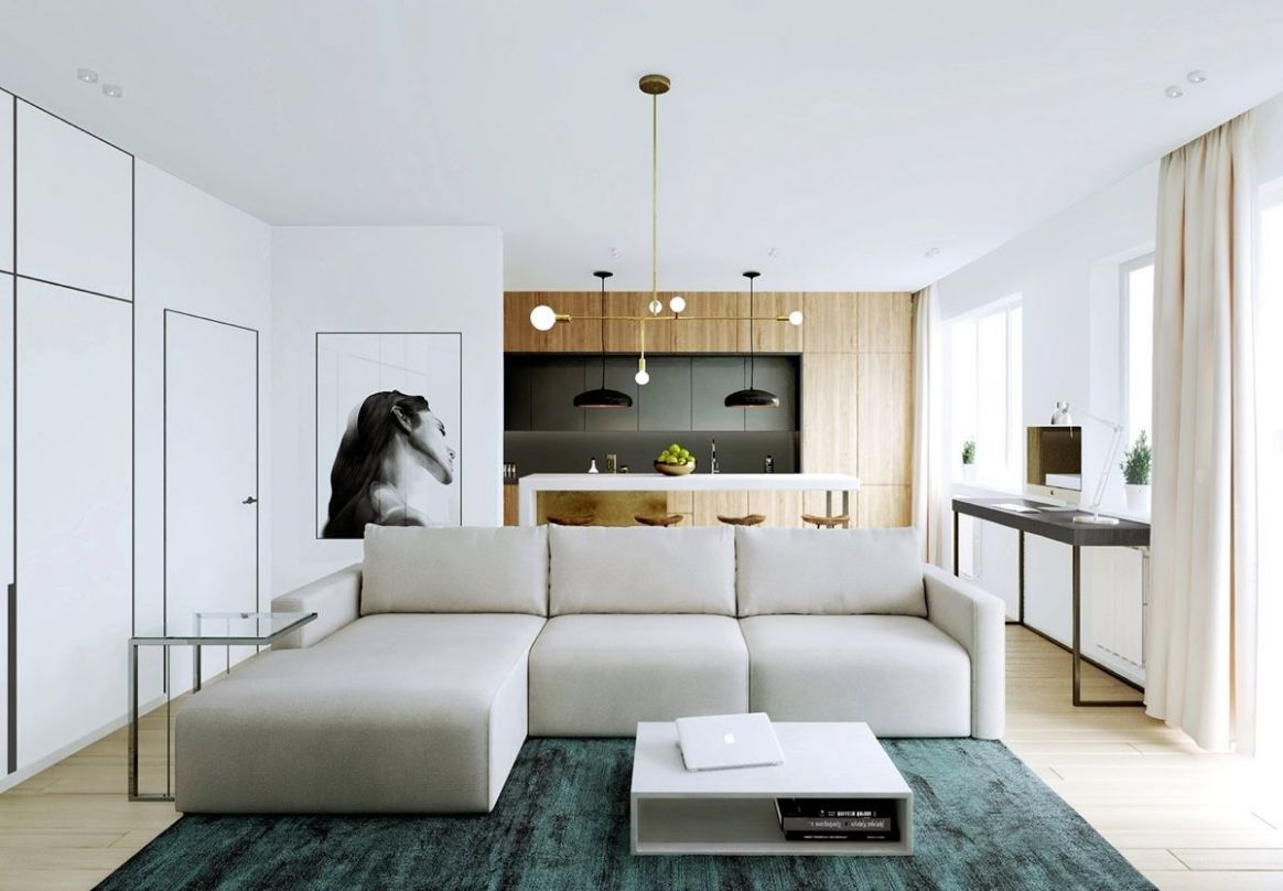 Relaxing Color Schemes In 8 Efficient Single-Bedroom Apartments ..