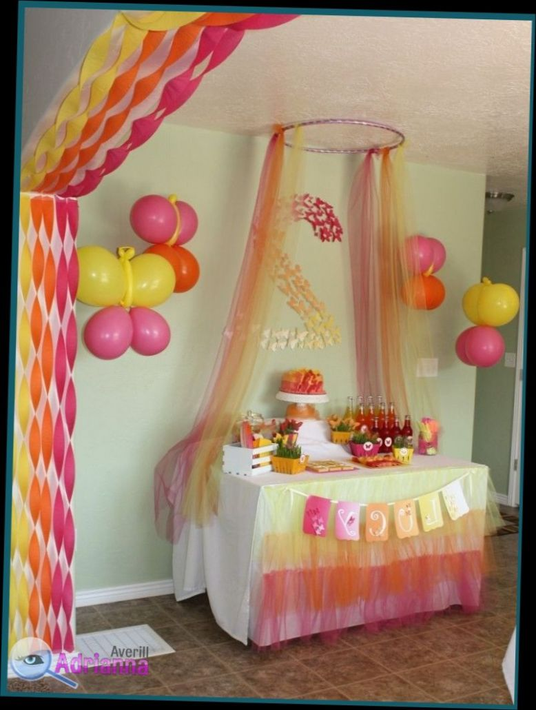 Ribbon Decoration On Wall || Romantic baby shower party garland ..
