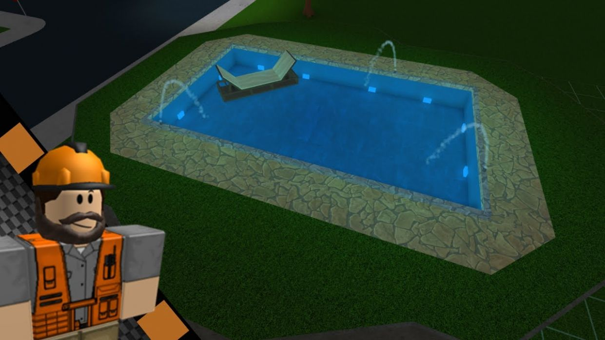 [Roblox: Bloxburg] | How to build a pool on other floors | Tutorial (Idea  for Bloxburg) - pool ideas in bloxburg