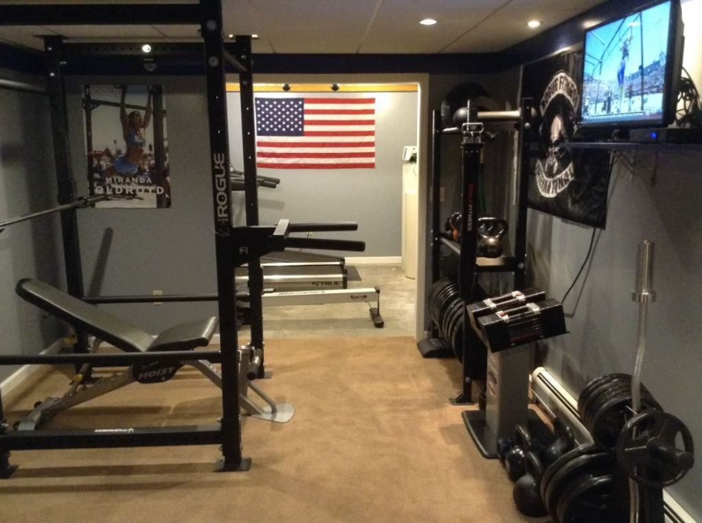 Rogue Equipped Garage Gyms - Photo Gallery | Home gym flooring ...