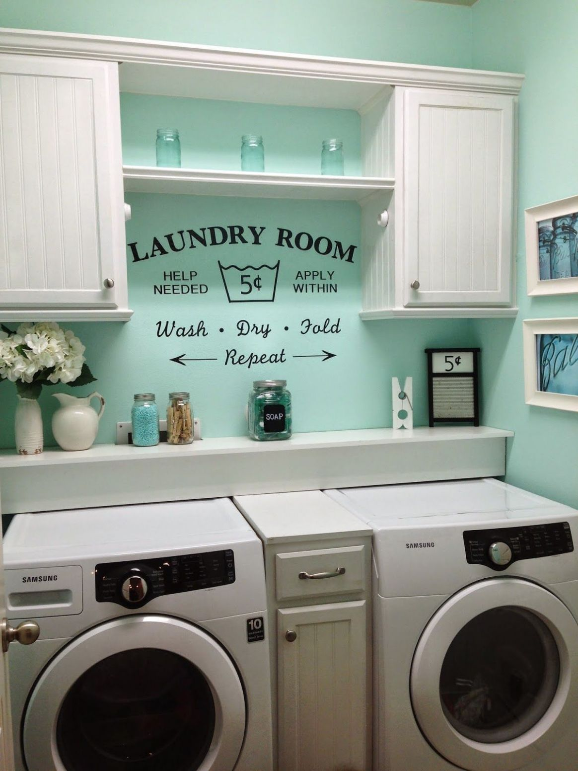 Rustic Shabby Chic Laundry Room, vintage Vinyl decal | Kleine ..