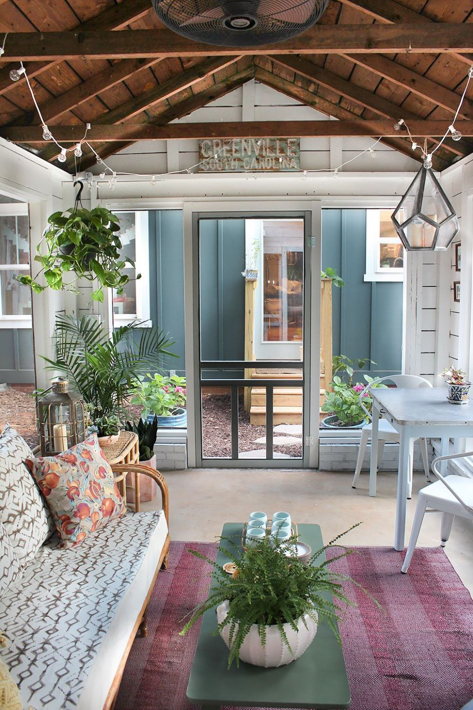 Shed Turned Boho Screened Porch | Patio, Sunroom decorating ...
