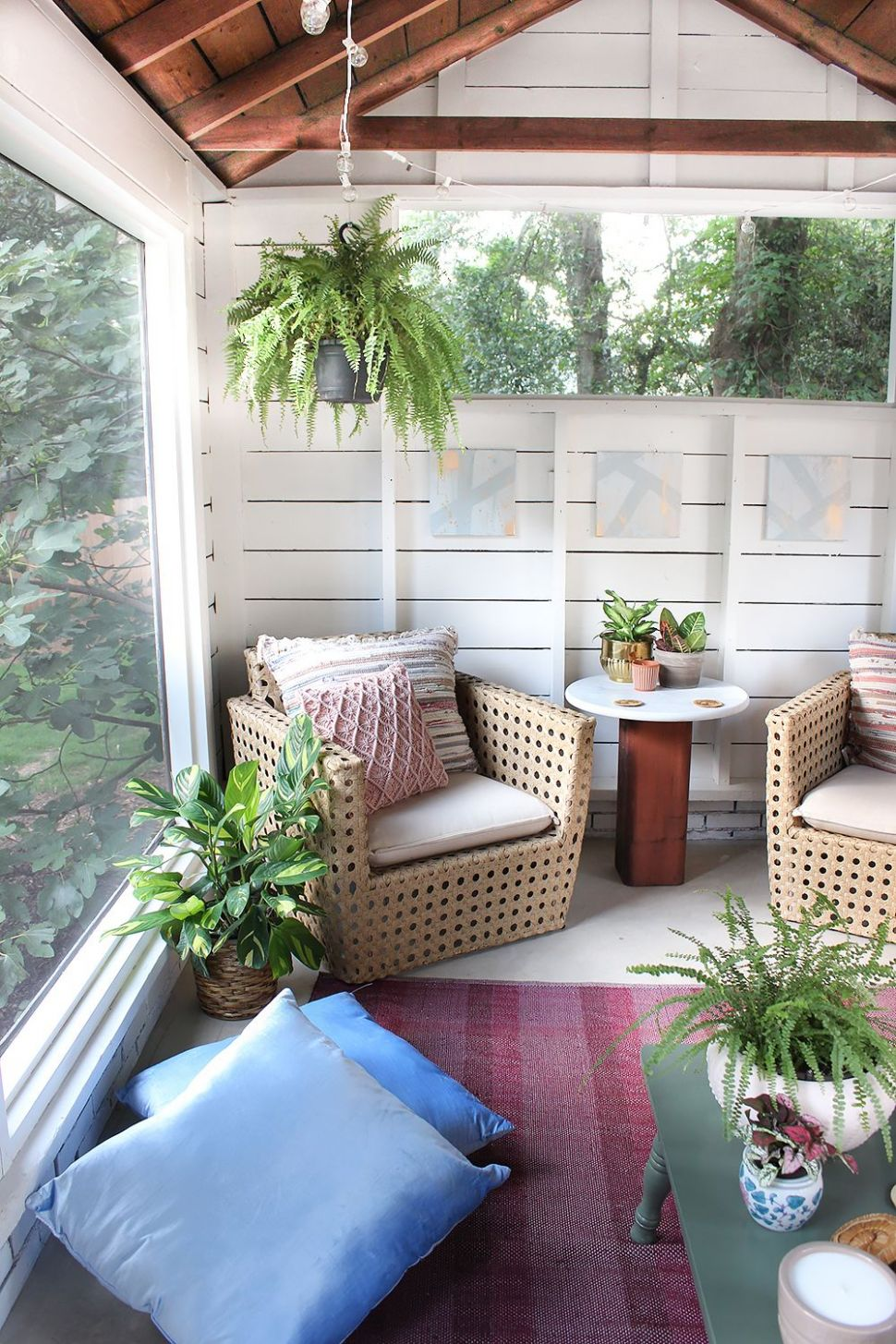 Shed Turned Boho Screened Porch | Screened porch designs, House ...