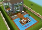 Sims FreePlay Beach house backyard original design | Haus