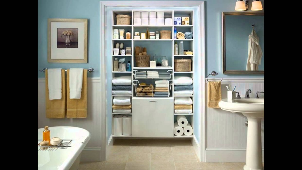 Small Bathroom Closet Ideas - YouTube