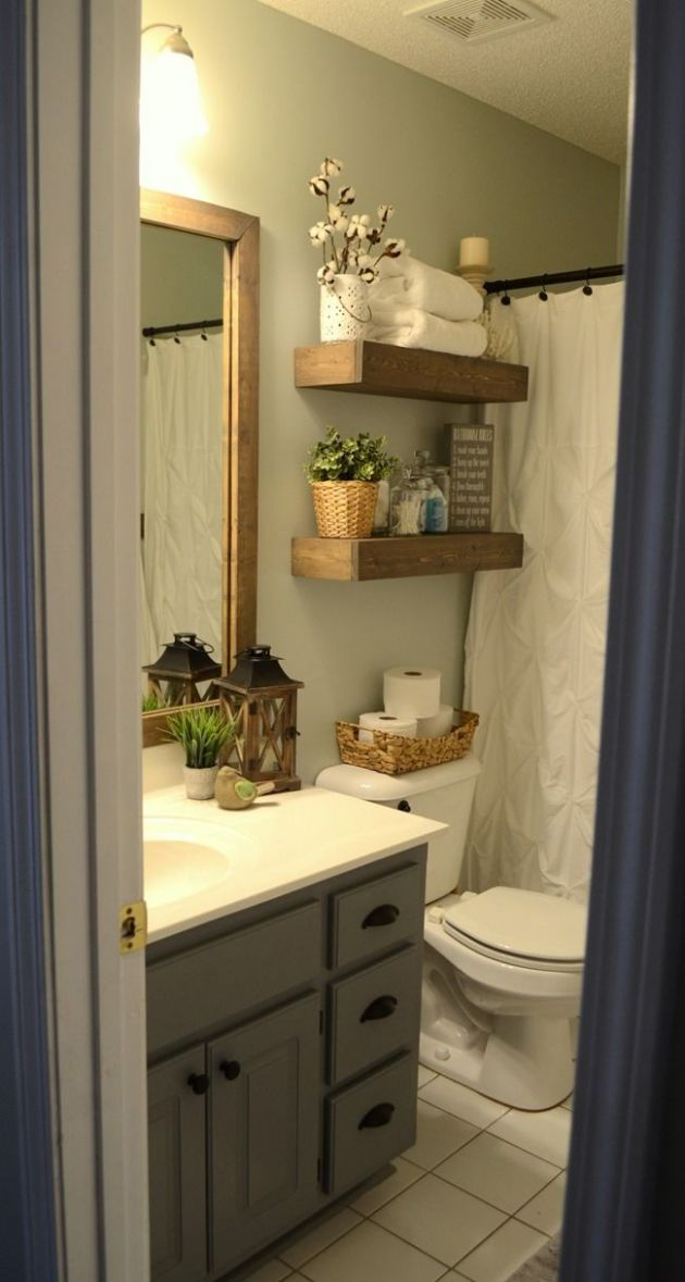 Small Bathroom Makeovers Ideas on a Budget | Small bathroom makeover - bathroom ideas on a budget