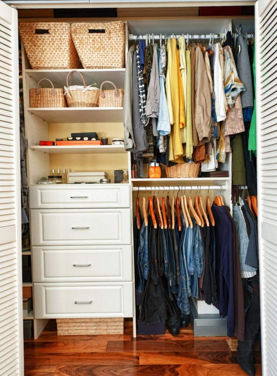 Small Bedroom Closet Organization Design How To Cover : Home ...
