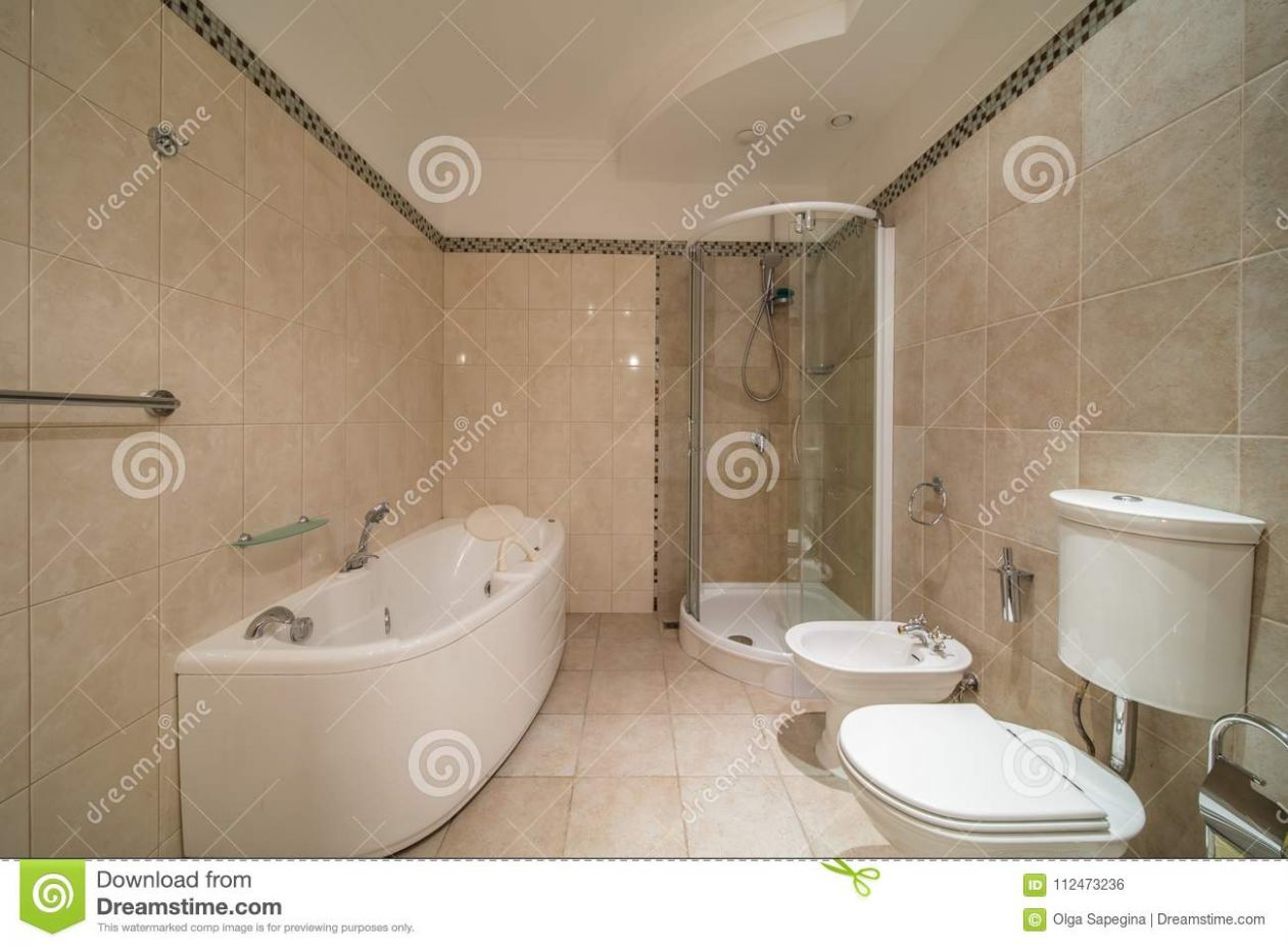 Small beige bathroom stock photo. Image of empty, luxury - 9