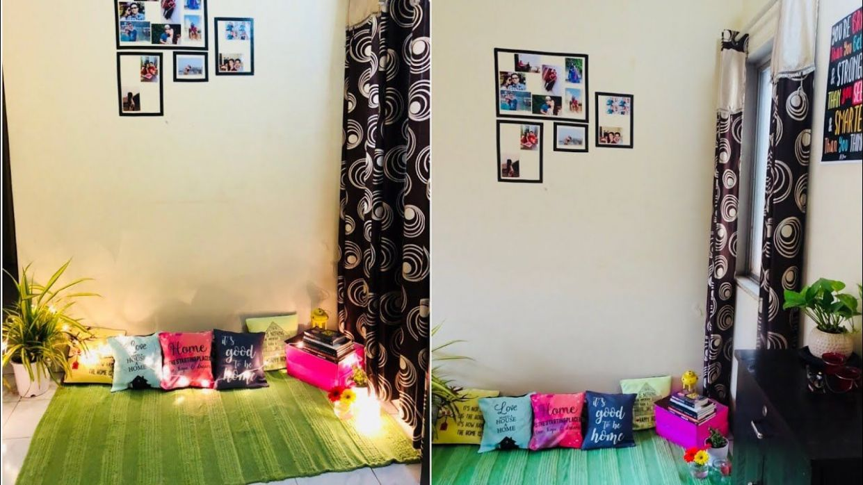 Small Budget Living Room Makeover In 12k | Living room makeover ...