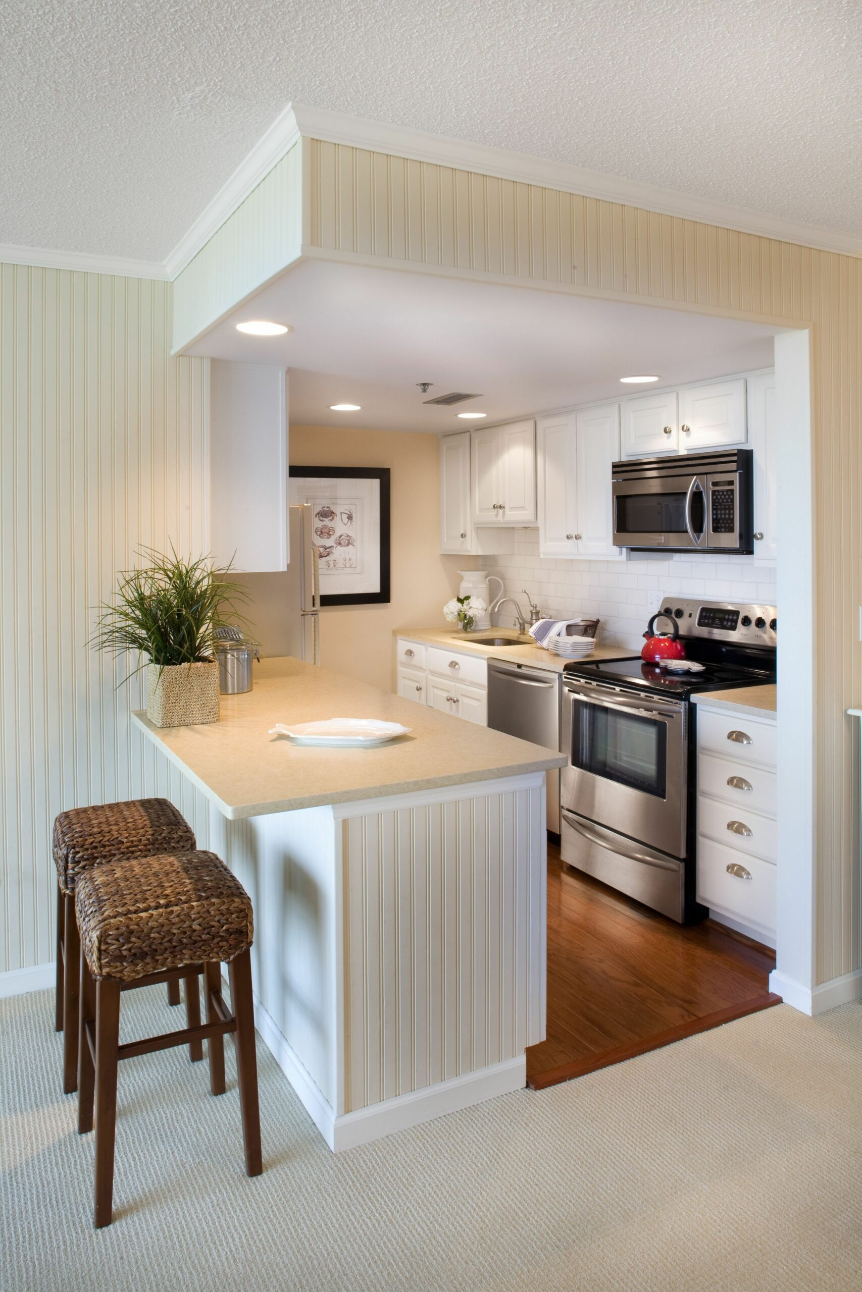 small but perfect for this beach front condo kitchen- designed by ...