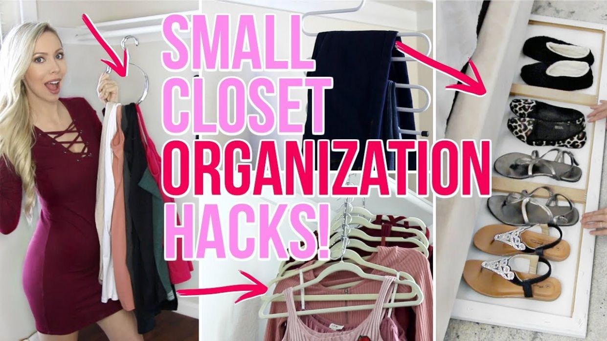 Small Closet Organization Ideas! - small closet ideas youtube