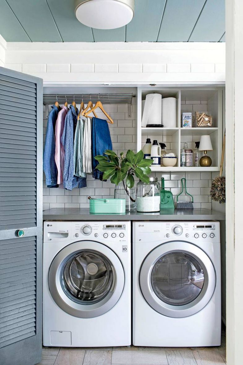 Small Laundry Room Ideas - Southern Hospitality - laundry room ideas in closet