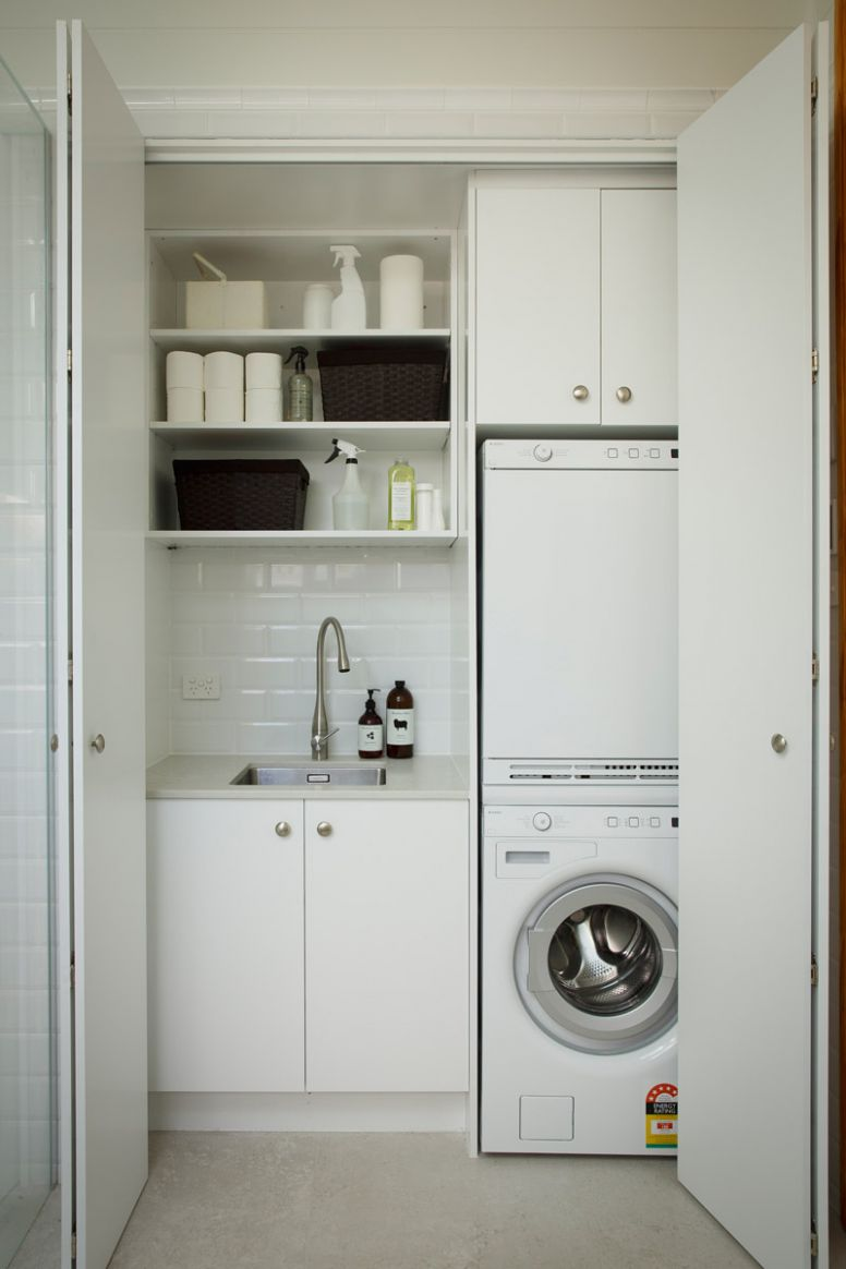 Small Laundry Room Remodeling and Storage Ideas | Apartment Therapy - laundry room ideas in closet
