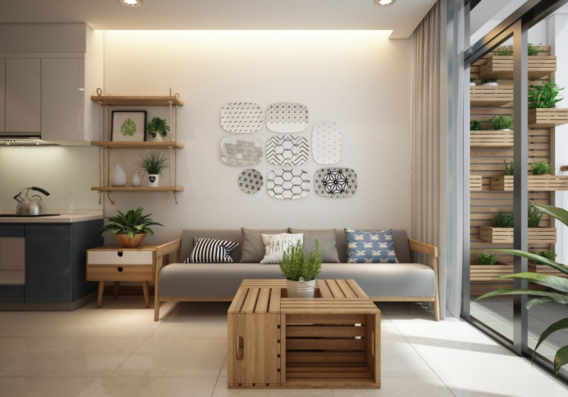 Small Modern Apartment Design With Asian And Scandinavian Influences - apartment design small