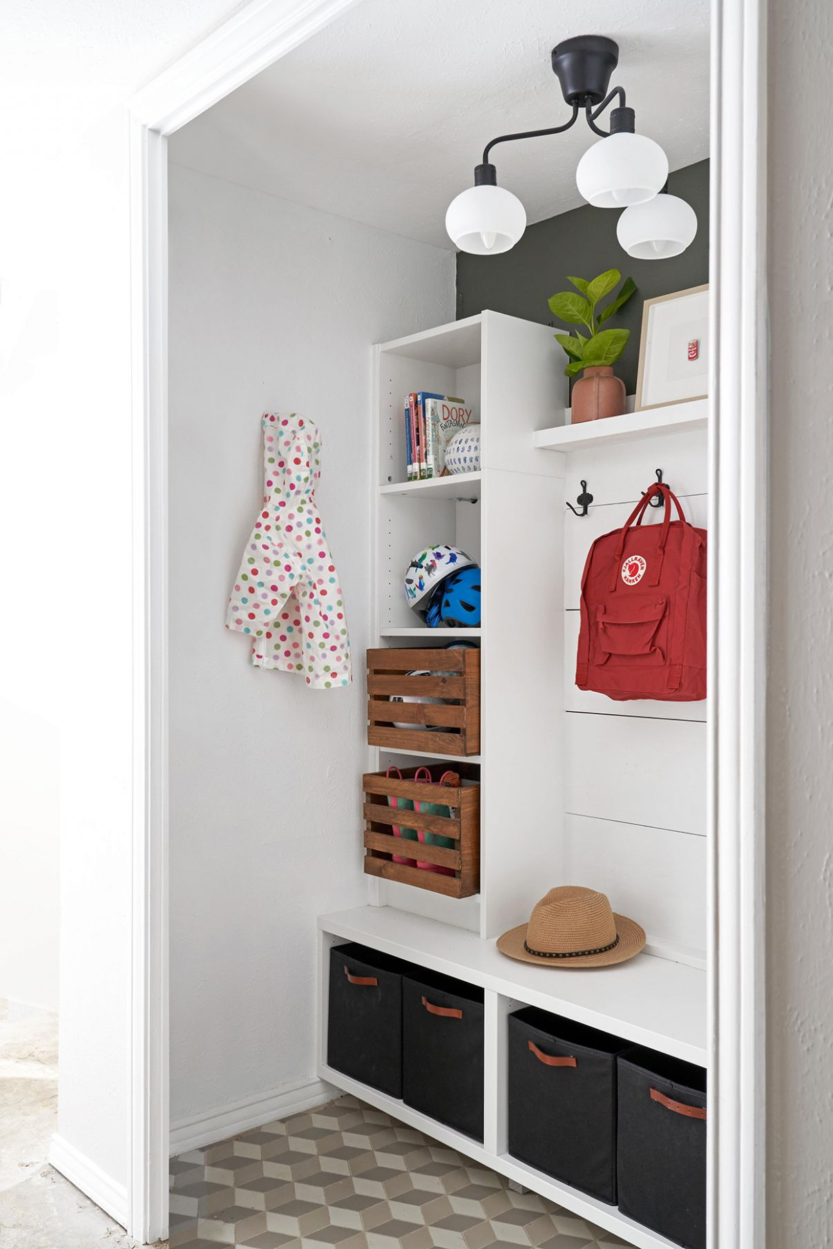 Small Mudroom Ideas Worth Stealing | Better Homes & Gardens - closet mudroom ideas