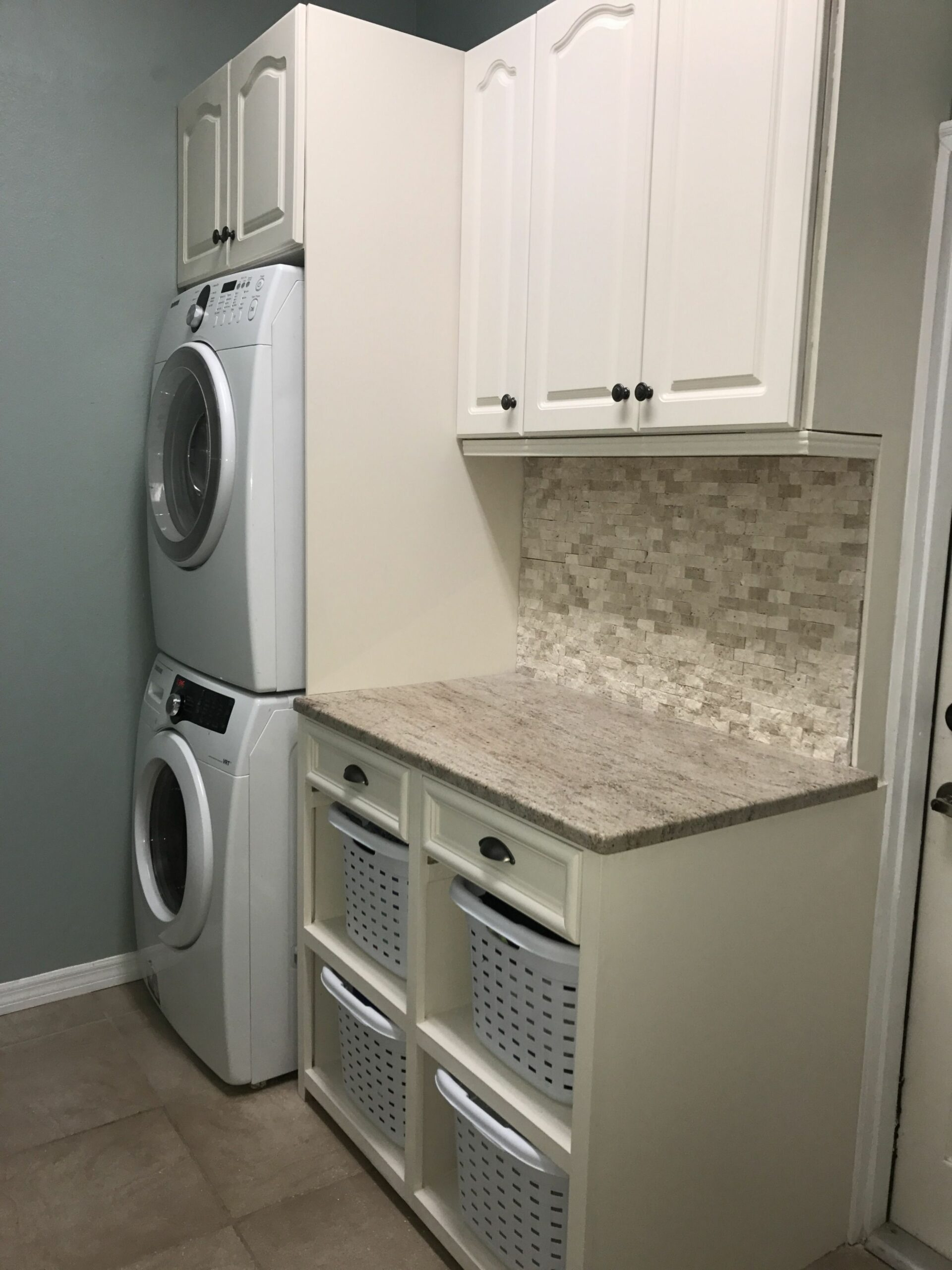 Solution to a small laundry room. Stacked washer and dryer ..