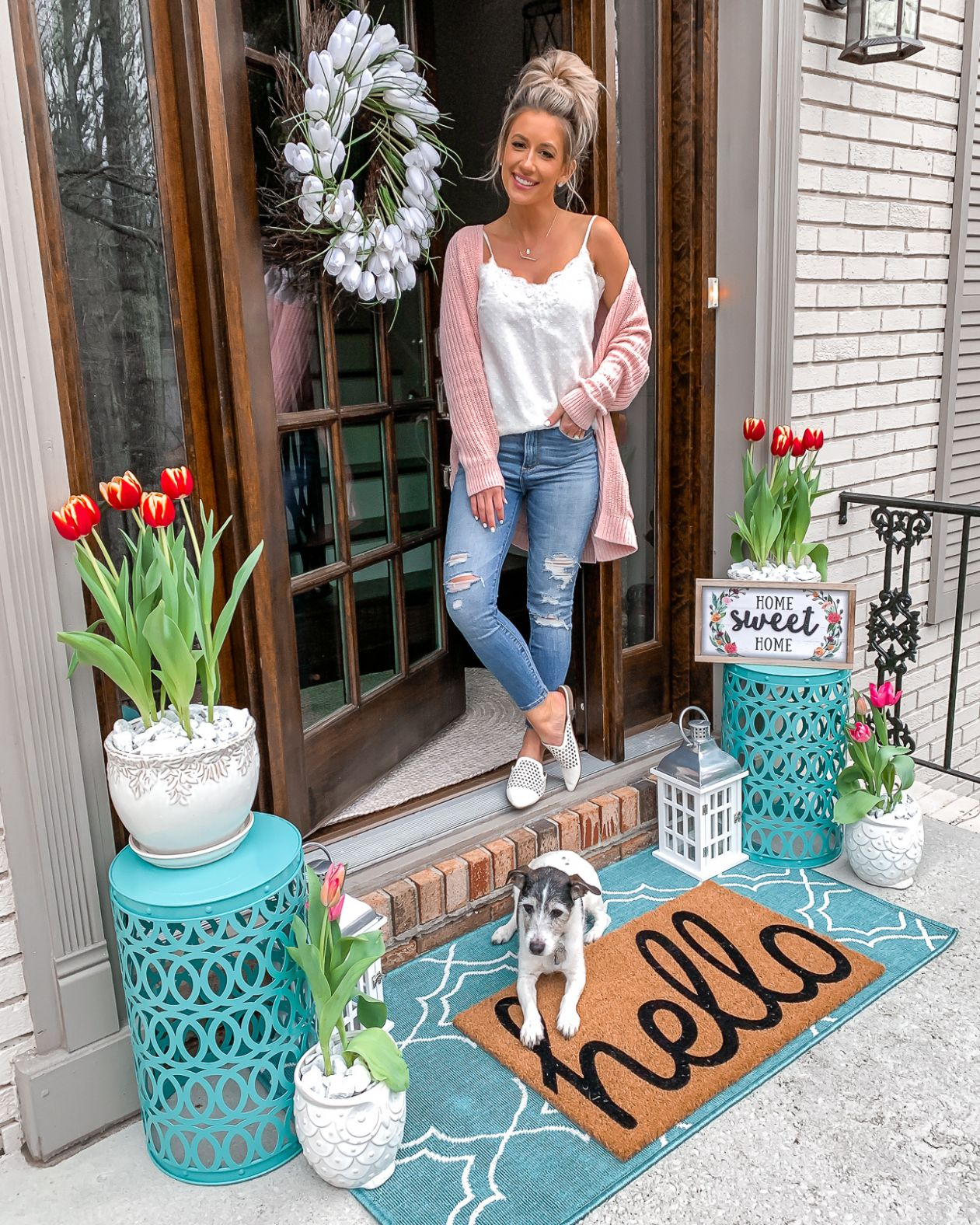 SPRING FRONT PORCH – Styled Adventures - front porch decor spring