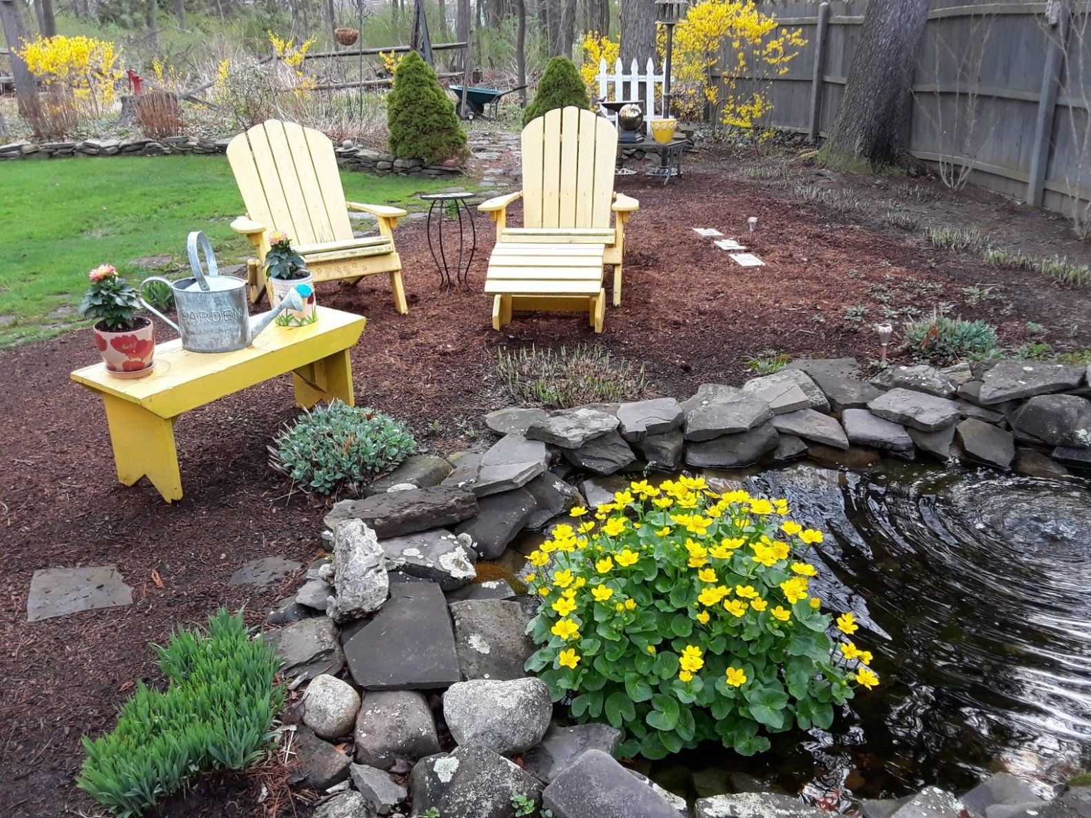 Spring time in the Northeast! | Outdoor decor, Patio, Outdoor