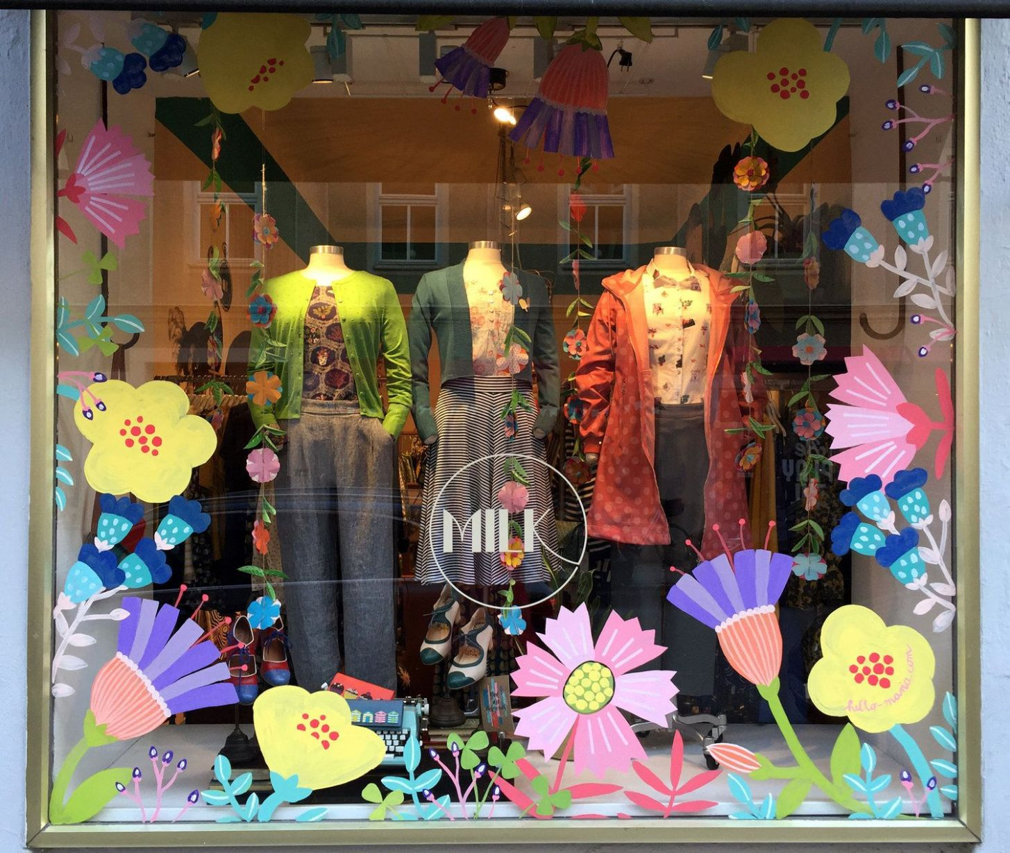 Spring window painting by Maria Over for MILK Munich | Spring ..