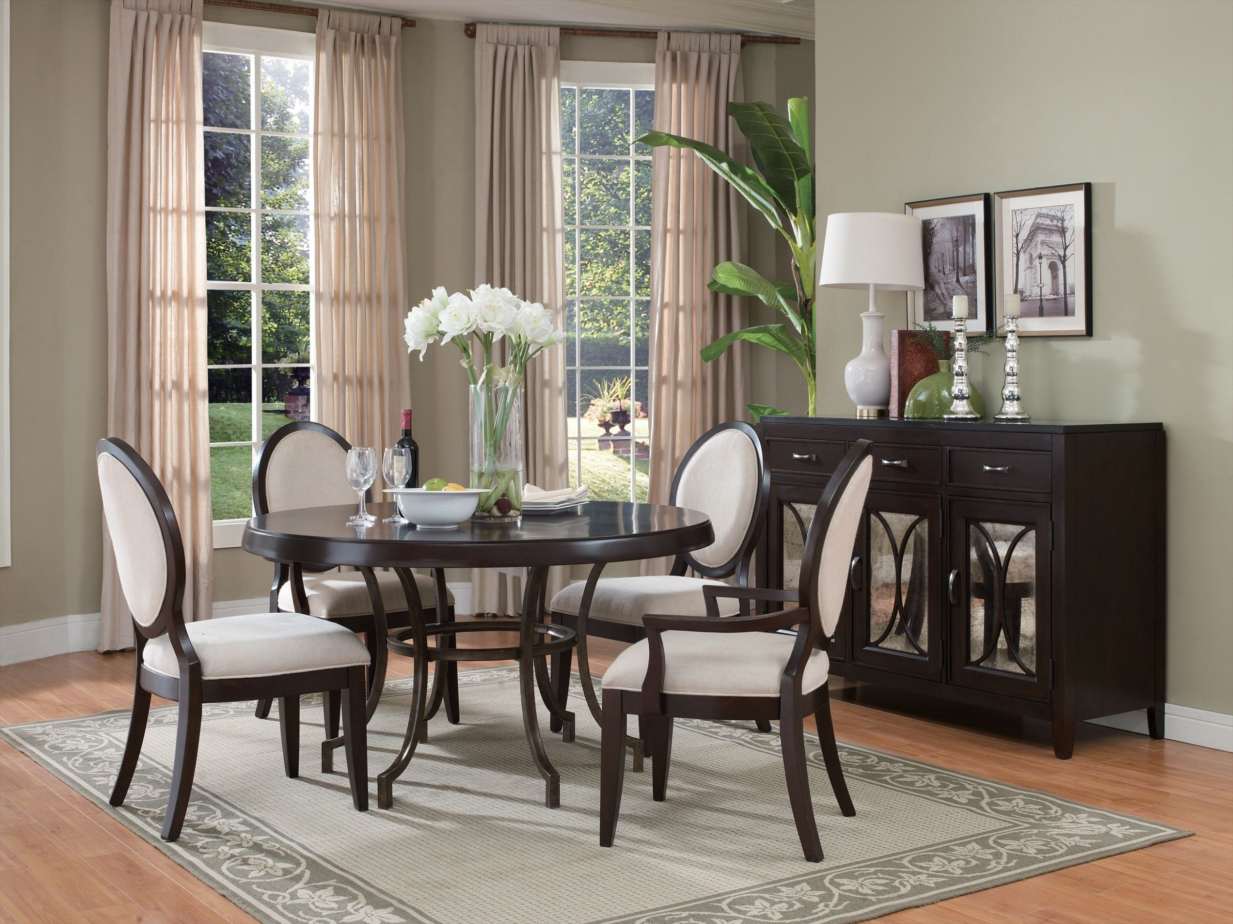 square dining room buffet tables | Dreamehome - dining room ideas with round table
