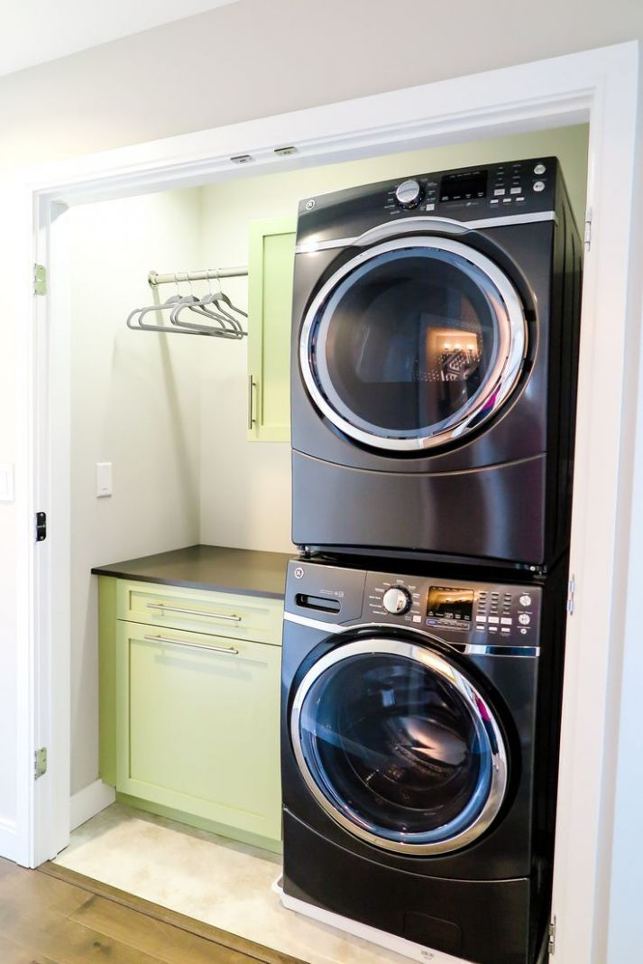 Stacked Washer and Dryer For More Room | Laundry Room | Laundry ...