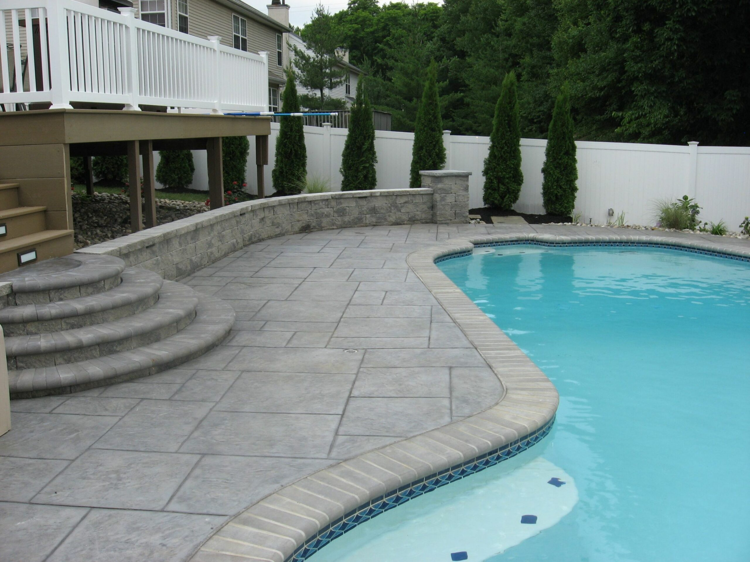 stamped concrete patios around a pool | Pattern Concrete for Pools ..