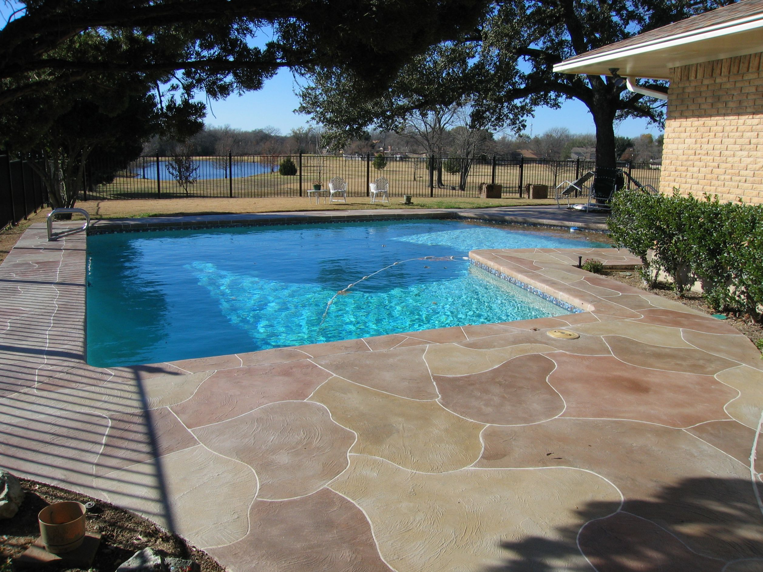 Stamped concrete pool patio designs ideas for stamped concrete ..