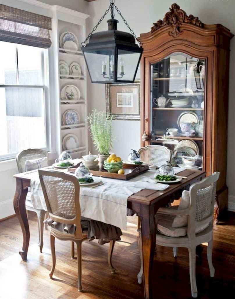 Stunning Fancy French Country Dining Room Decor Ideas 10 | French ..