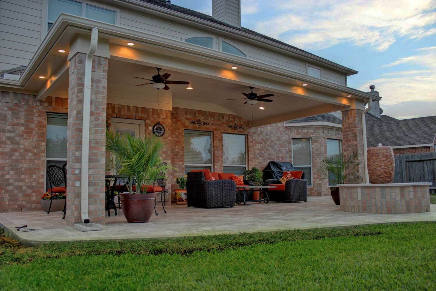 Stylish Ways to Decorate l shaped covered patio ideas on this ...