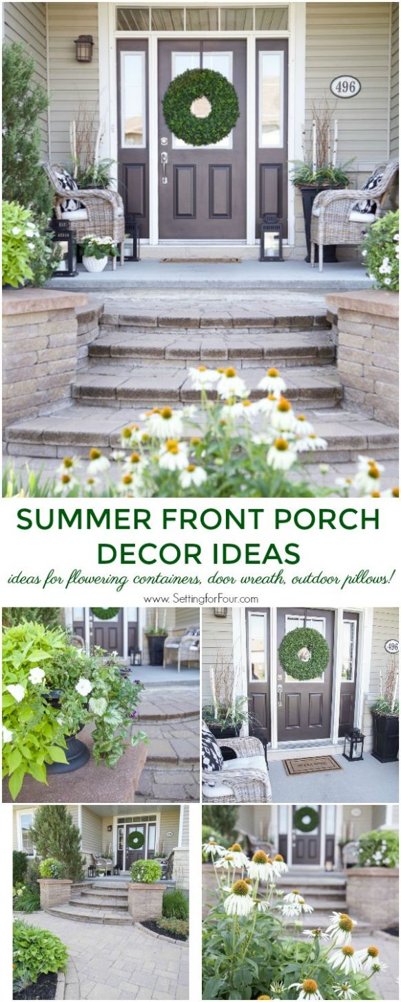 Summer Front Porch Decor Ideas - Setting for Four - front porch decor for summer
