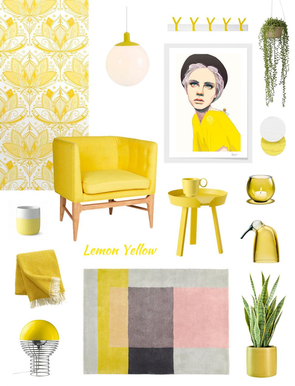 Summer Home Decor ideas on lemon yellow