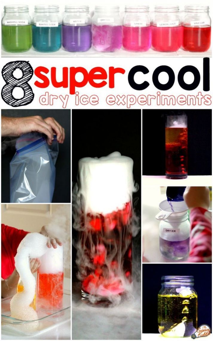 Super Cool Experiments with Dry Ice | Dry ice experiments, Cool ..