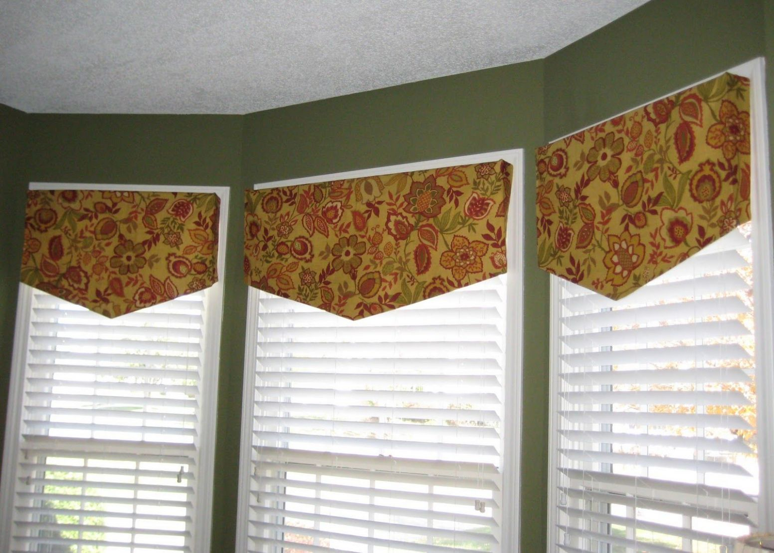Tallgrass Design: Simple Valances. (Might use for windows on the ..