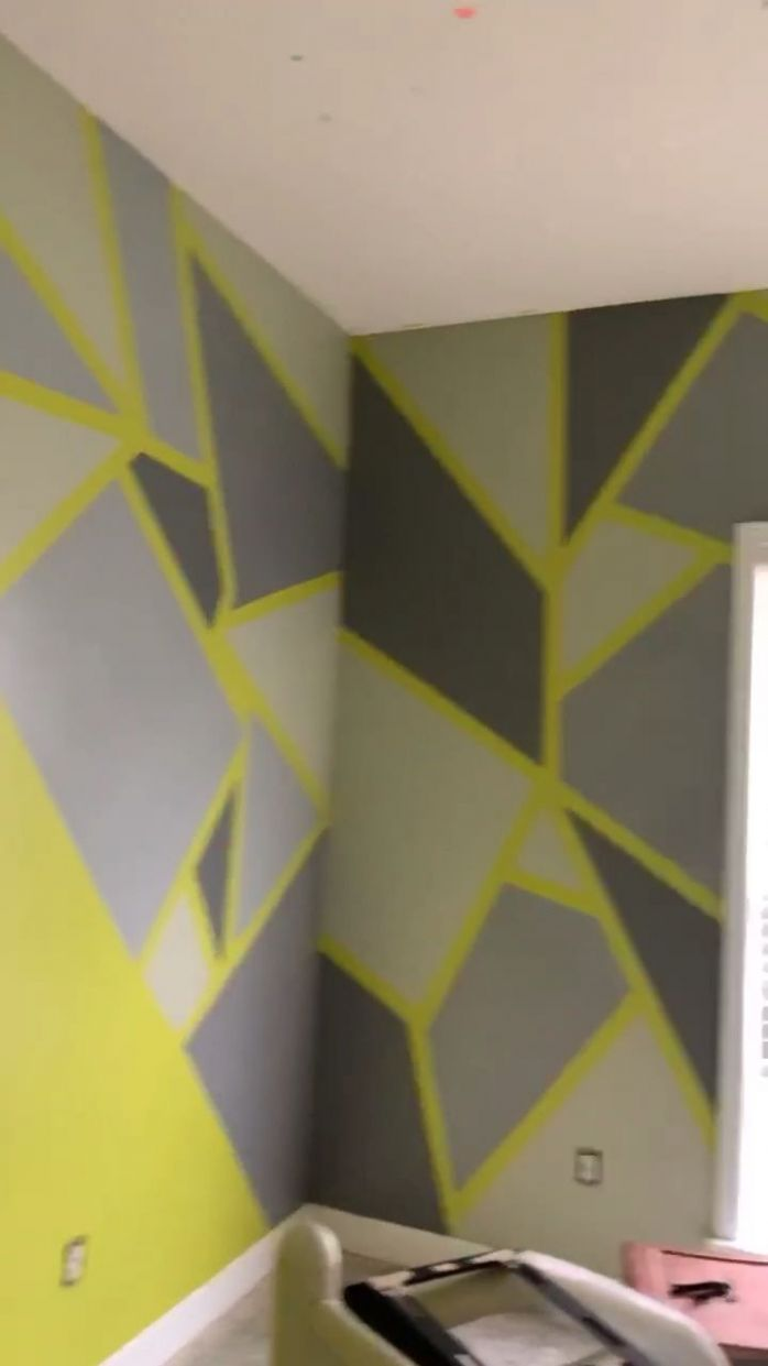 Tape wall design | diy wall painting for bedroom videos art ideas ..