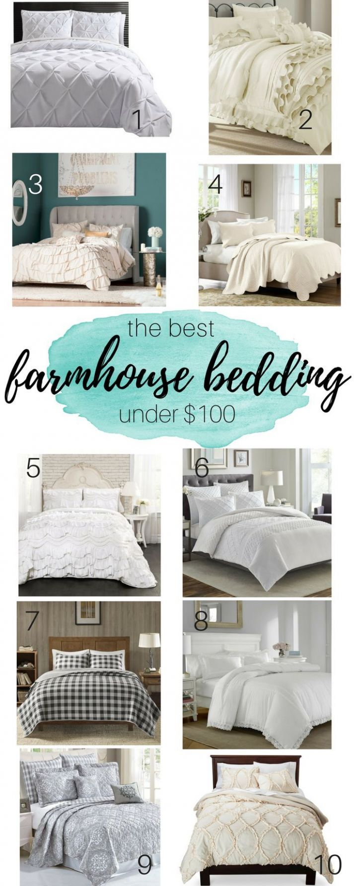 The Best Farmhouse Bedding Under $9 | Farmhouse bedroom decor ...