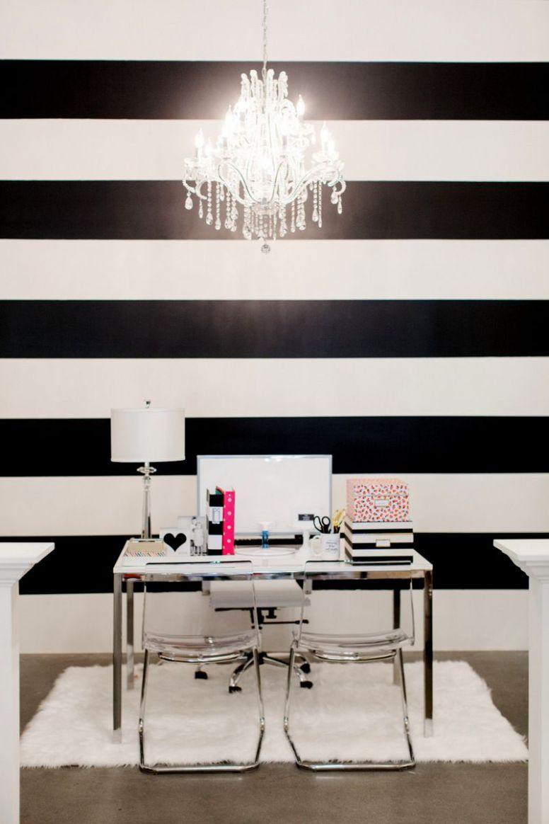 The Black and White Striped Wall | White home decor, White wall ..