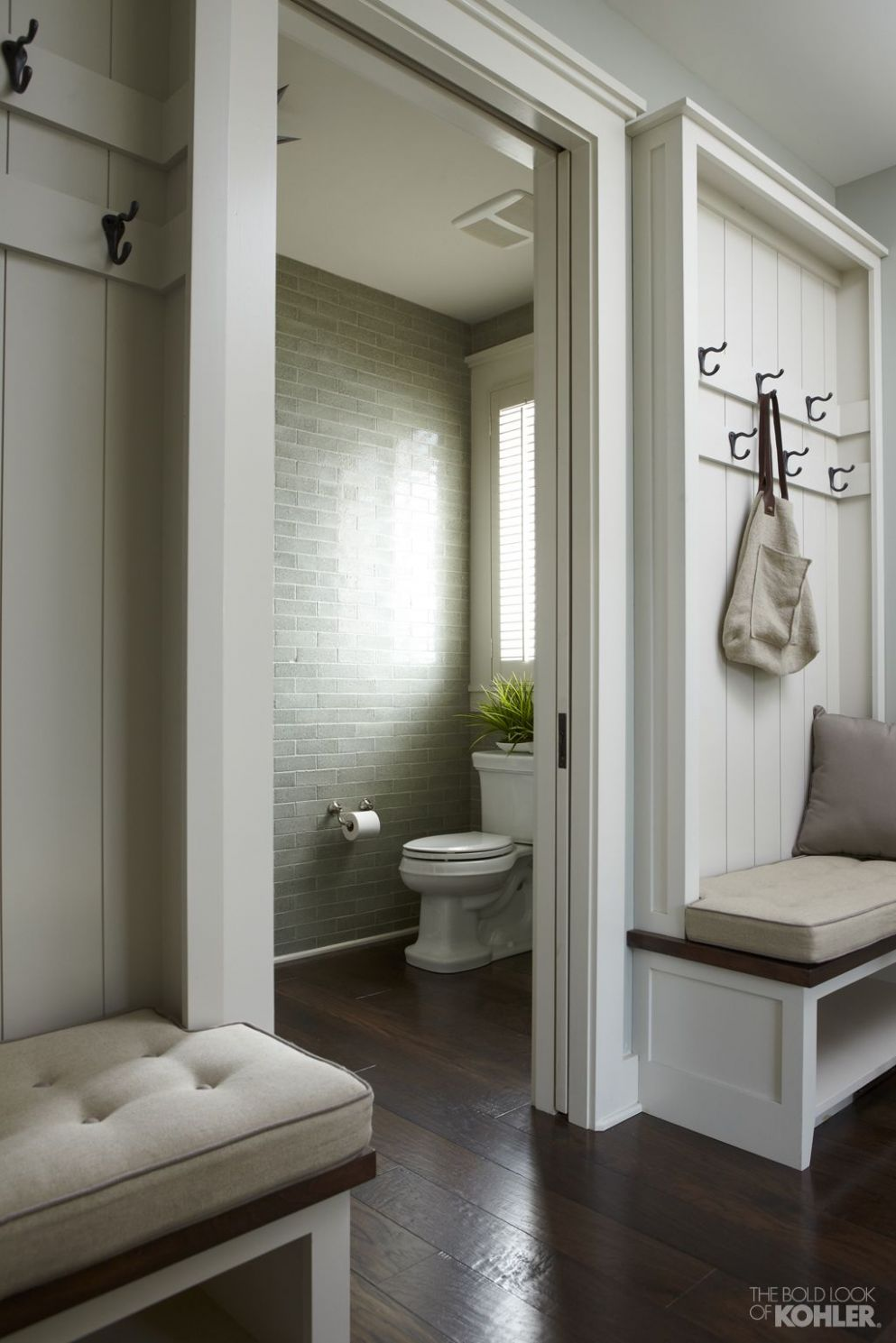 The Bold Look of | Hallway designs, Mudroom laundry room, Home
