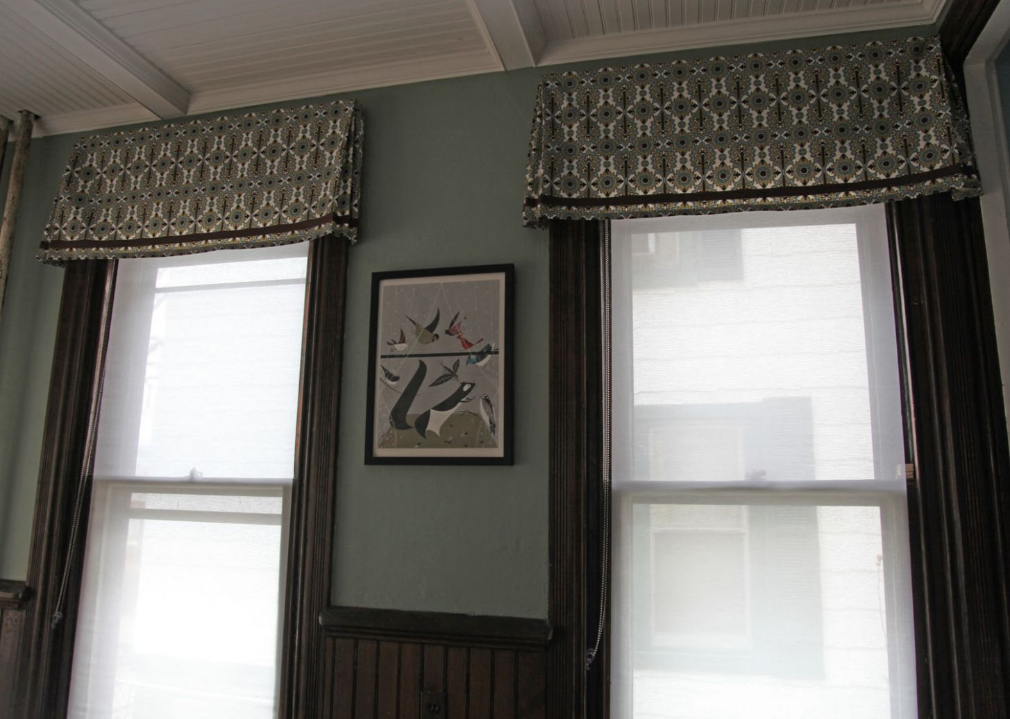 The Dining Room Windows: The Valances | Stately Kitsch - window valance ideas for dining room