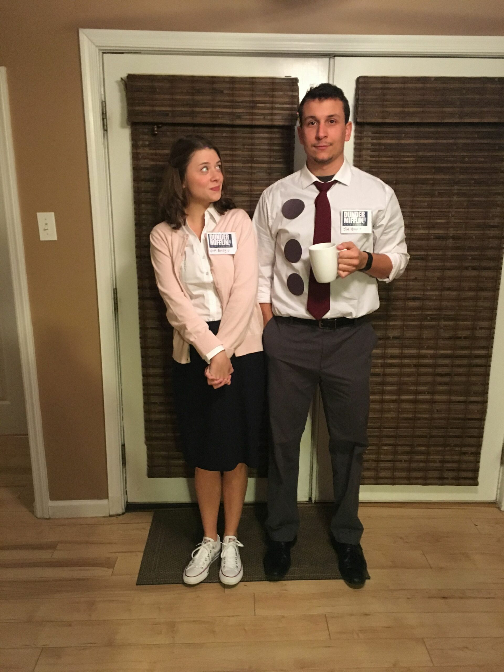 "The Office"" Halloween Costume- Jim and Pam Couple 