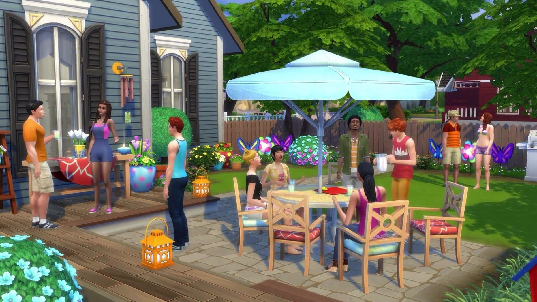 The Sims 9- Backyard Stuff | Sims 9 backyard stuff, Backyard, Sims - backyard ideas sims 4