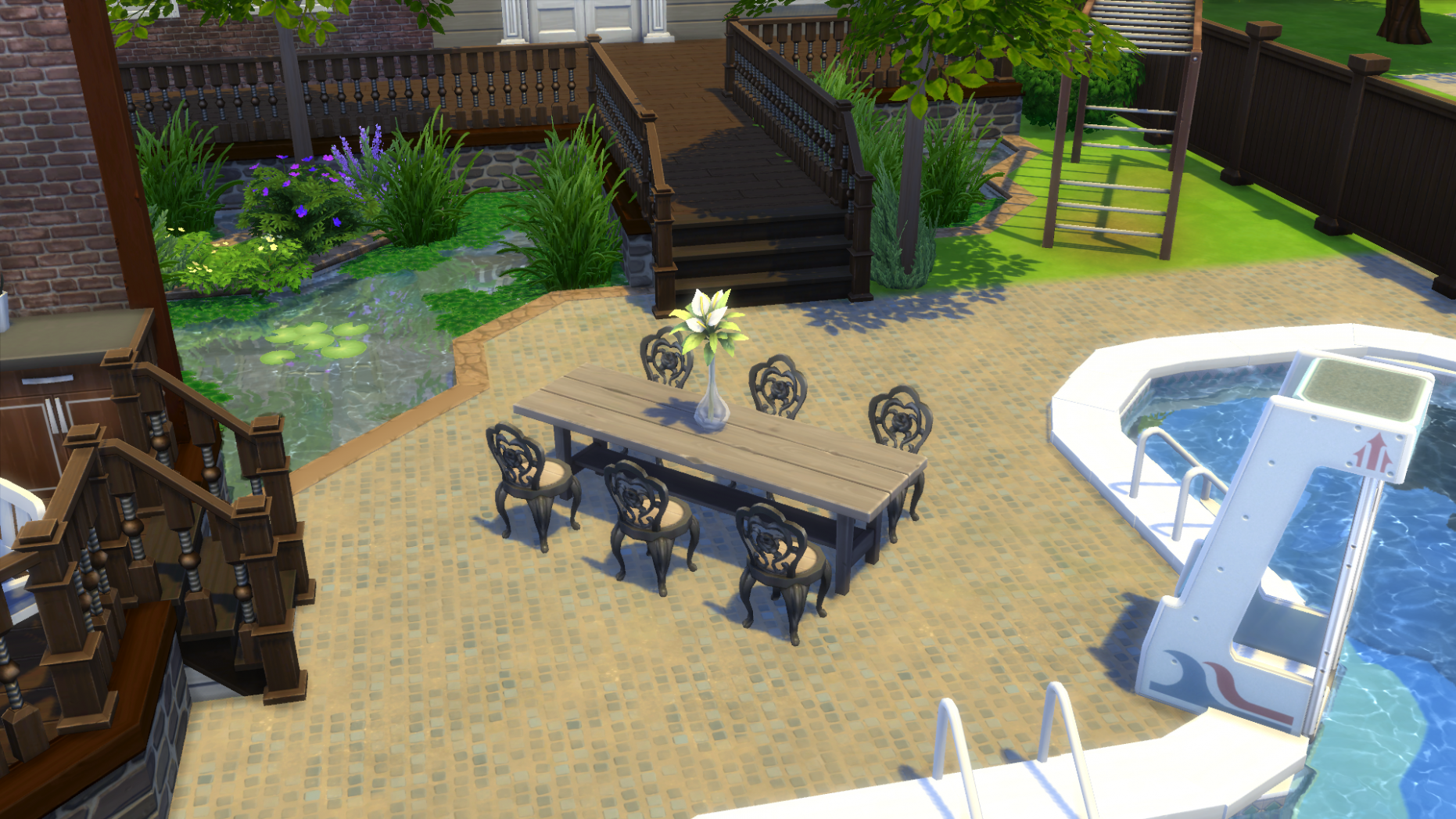 The Sims 9 Building: Decorating Your Backyard - backyard ideas sims 4