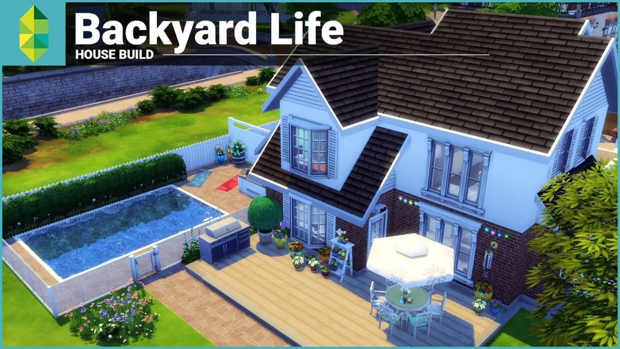 The Sims 9 House Building - Backyard Life